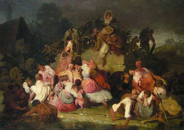 Munkácsy Mihály (1844-1900) - Árvízi jelenet - 1867