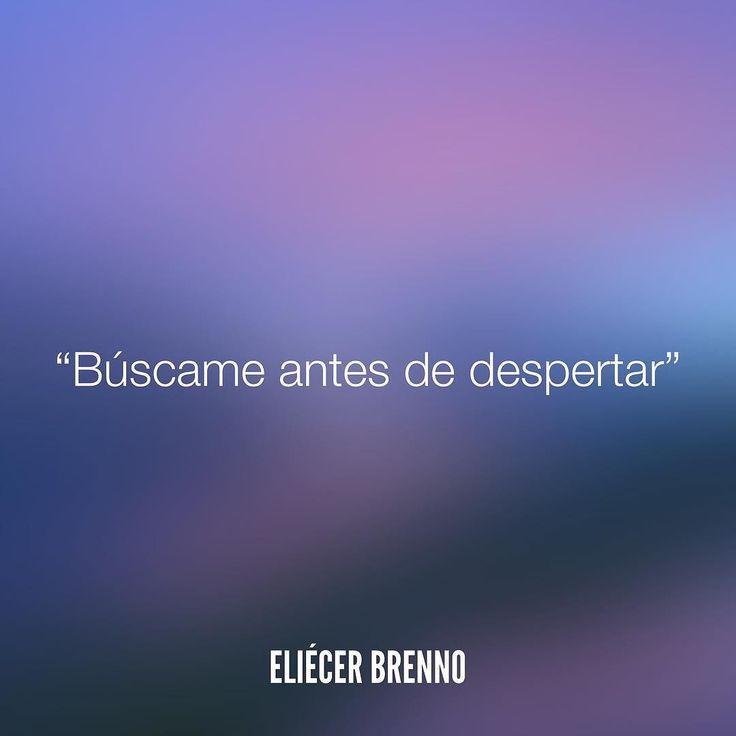 Búscame antes de despertar Eliécer Brenno  #buscame #quotes #writers #escritores…
