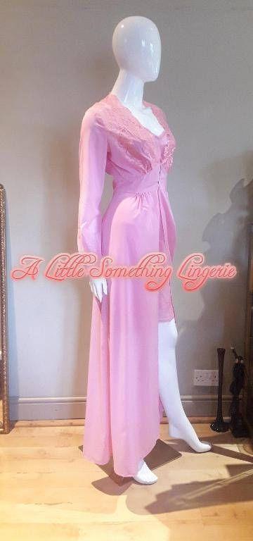 negligee long silk negligee silk peignoir uk silk negligee gown pink silk negligee pink silk robe long silk dressing gown pink silk robe uk by ALittleSomethingsome on Etsy