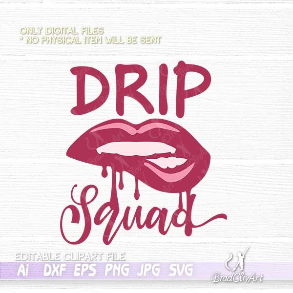 Birthday Drip Svg And Drip Squad Bundle For Cricut And Silhouette