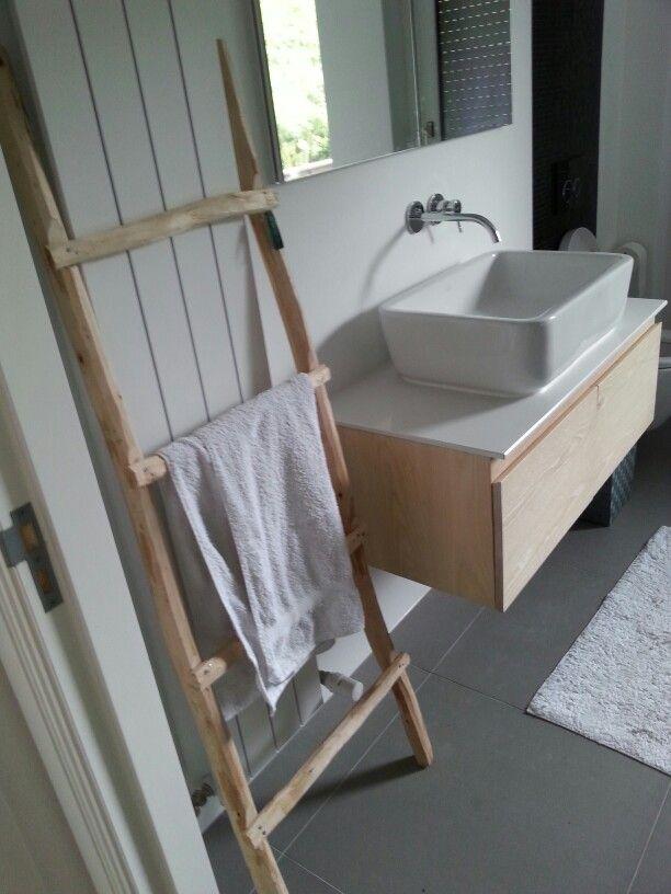 Meer dan 1000 idee n over houten ladder op pinterest ladders vintage ladder en antieke houten - Badkamer epuree ...