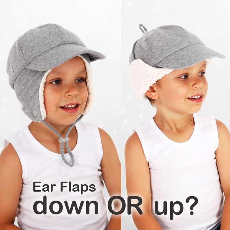 Do you wear your winter hat with ear flaps up or down?  #bedheadhats #winterkidshats #earflaps #kidshats