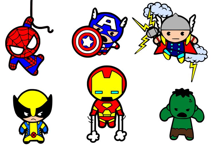 Krafty Nook: Kawaii Superheroes SVG Files