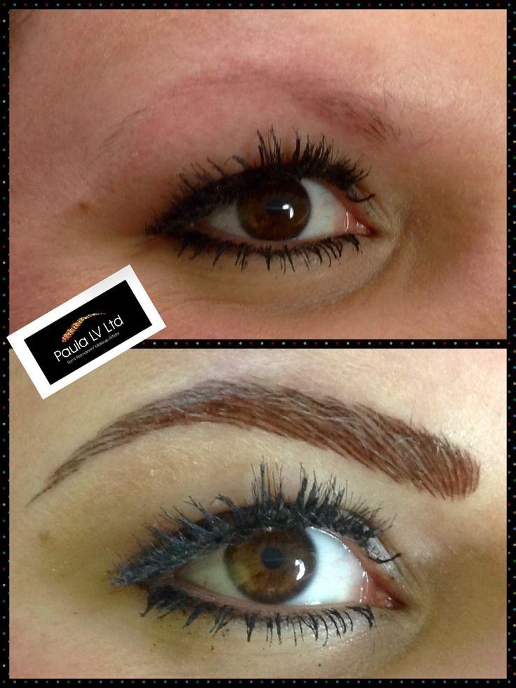 Semi permanent make up - hair stroke eyebrows.