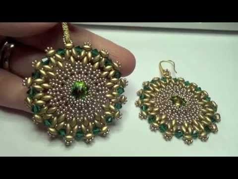 I miei gioielli fatti a mano, swarovski, perline, superduo, metallo patinato - YouTube