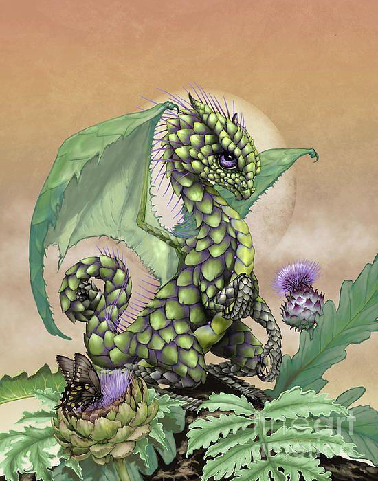 Artichoke Dragon Digital Art by Stanley Morrison