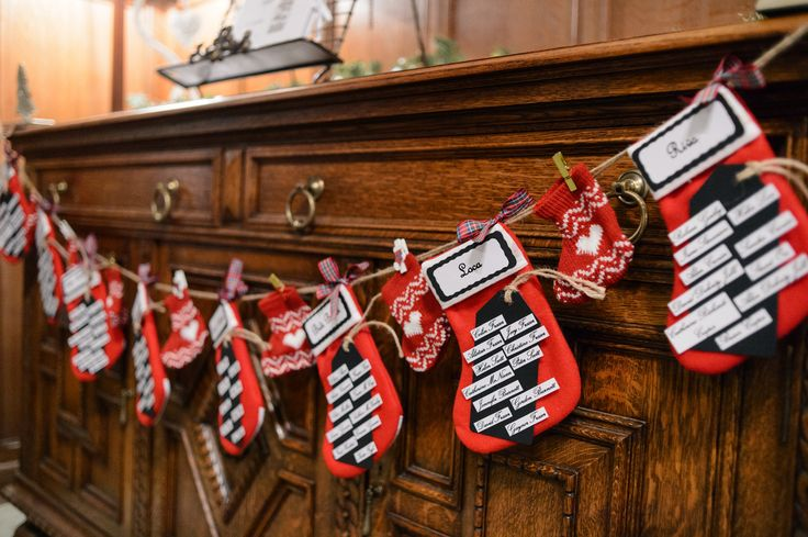 Great idea for table plan for winter weddings