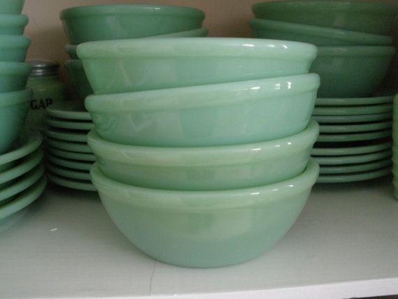 jadite. restaurantware bowls.