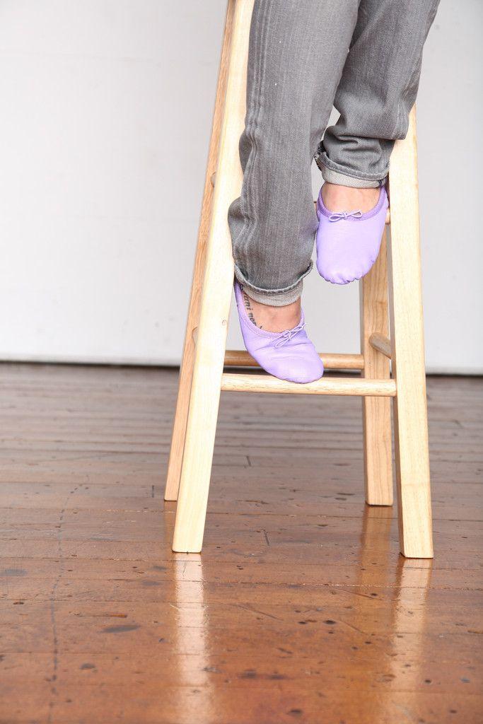 Purple Ballet Shoes, Purple Ballet Slippers, Purple Ballet Flats available at www.lingeshoes.com for $59