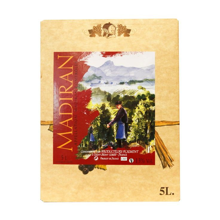 AOC madiran 5L Superbe vin tannique de caractère