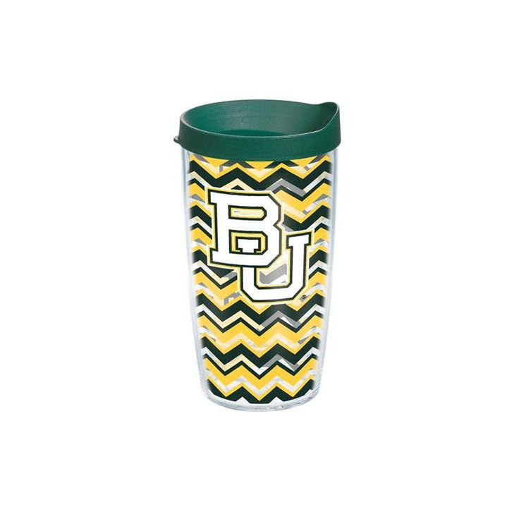 Baylor University Clear Chevron 16 oz. Tervis Tumbler with Lid - (Set of 2)