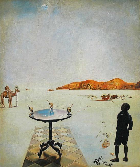Table solarie (Słoneczny stół), 1936 olej, deska; 60x46 cm  #salvadordali #salvadordalipolska