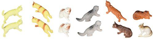 12 Assorted Cats (2.5-inch PVC) Rhode Island Novelty