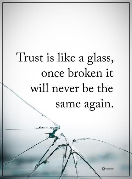It would be a lie to say it wasnt broken.. especially do to my actions.. there is no regaining that