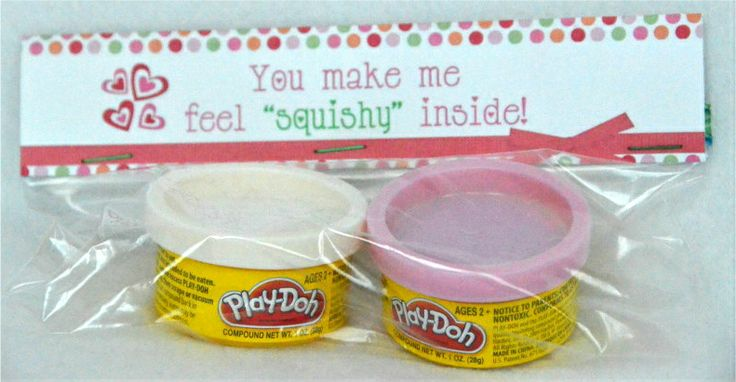 Play-Doh....great idea because a lot of schools don't allow people to bring in food into the classrooms anymore with all the allergies!