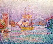 Harbour at Marseilles, c.1906  by Paul Signac