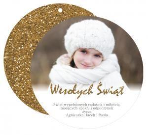 Fotokartka - bombka   http://sweetprint.pl/pl/p/FOTO-kartka-bombka-Golden-Christmas-/1518