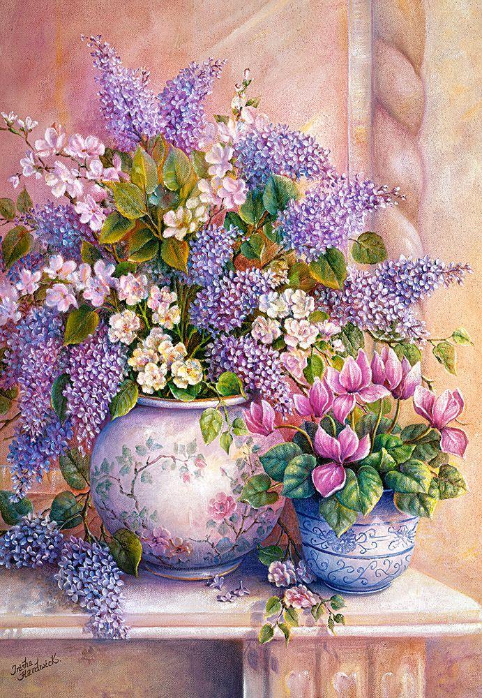 Lilac Flowers - 1500pc Jigsaw Puzzle By Castorland
