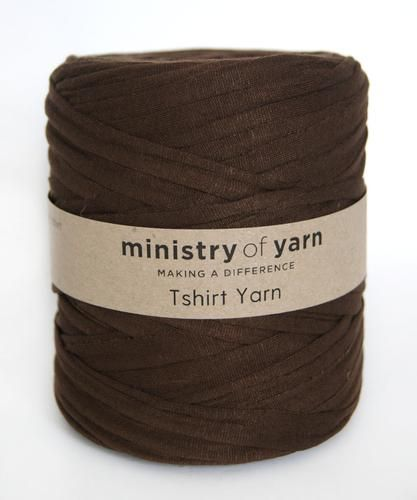 Chocolate Brown Ministry of Yarn Tshirt yarn
