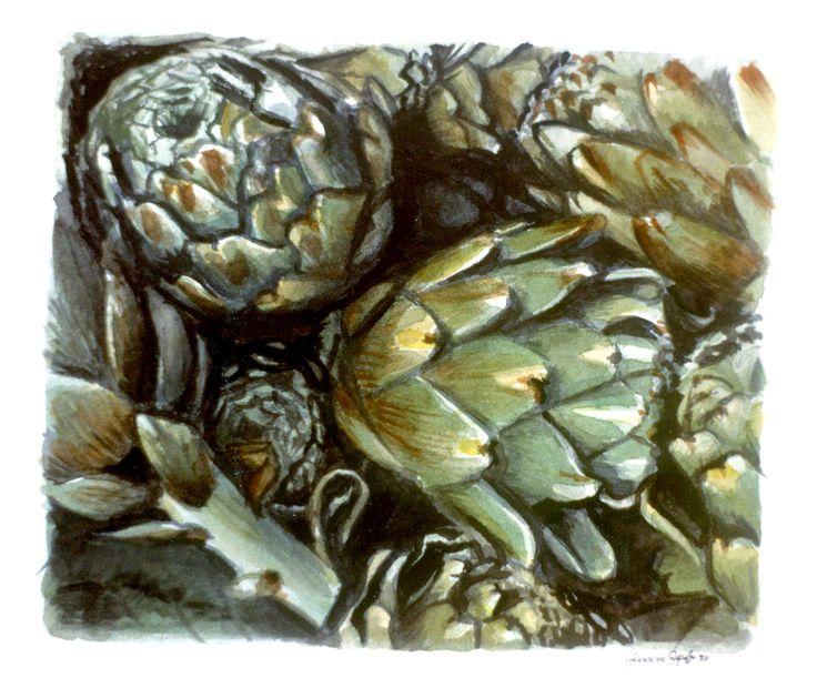 artichoke #watercolor #artichoke