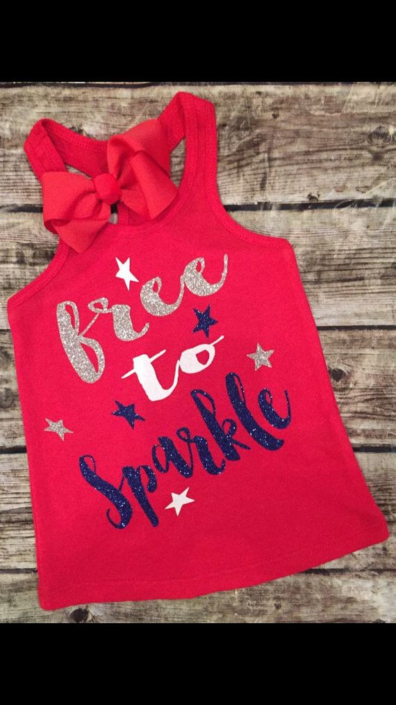 Fourth of July, Baby Girl Fourth of July Shirt/Onesie for girl, Toddler Girl Sparkle for girls, Sparkle Onesie,