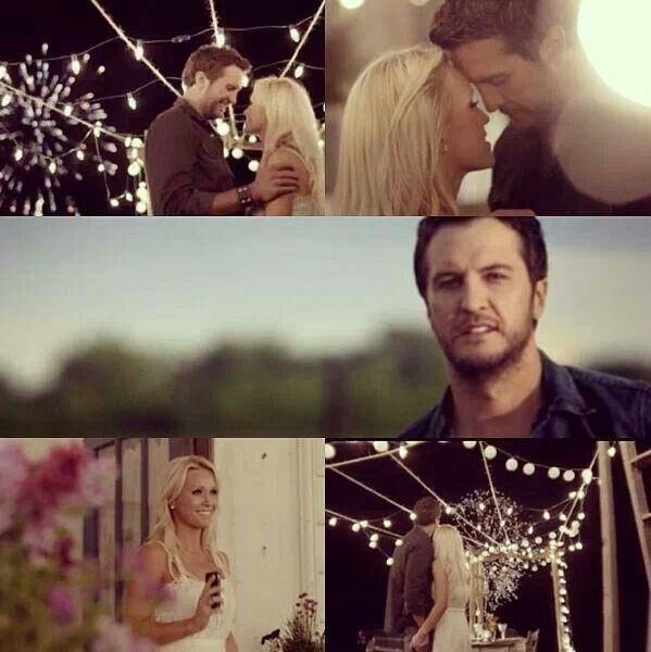 Luke Bryan & Caroline Bryan in the Crash My Party video