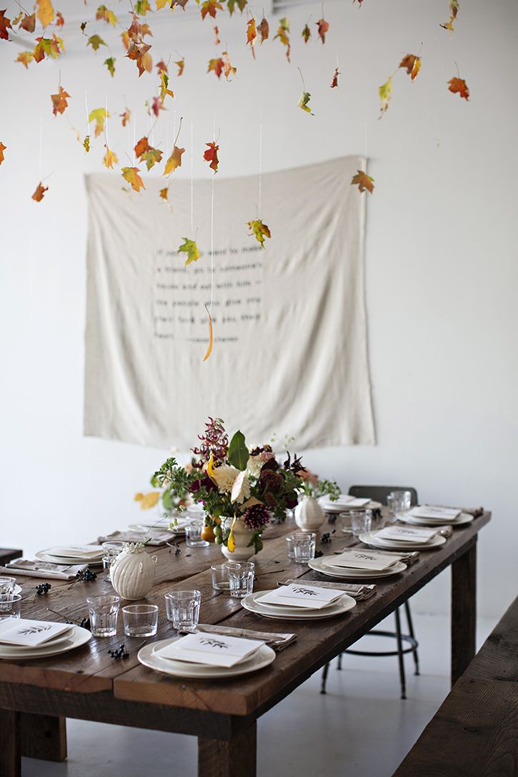 The perfect autumn dinner party setting!