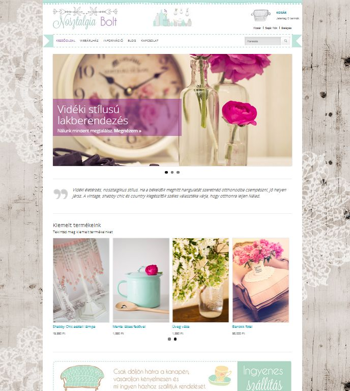 http://nosztalgia.bolt.hu/ webshop design