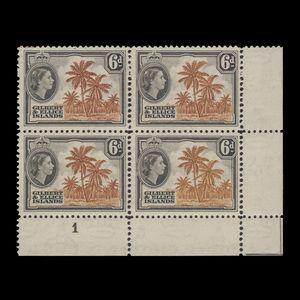 Gilbert & Ellice Islands 1956 (Plate) 6d Coconut Palms