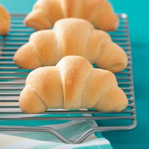 Buttery Crescent Rolls Recipe from Taste of Home -- shared by Kelly Kirby of Westville, Nova Scotia