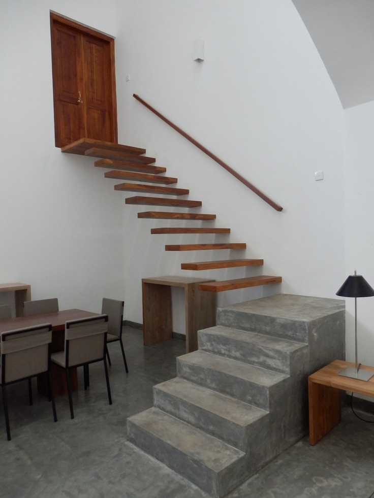 Concrete and cantilever stairs