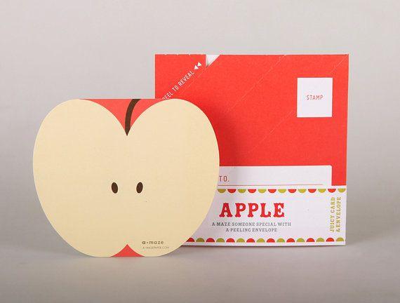 Apple fruit notecard