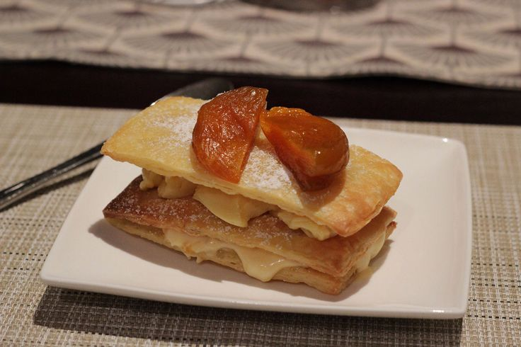 Mille-Feuille with Preserved Apricots & Goat's Cheese