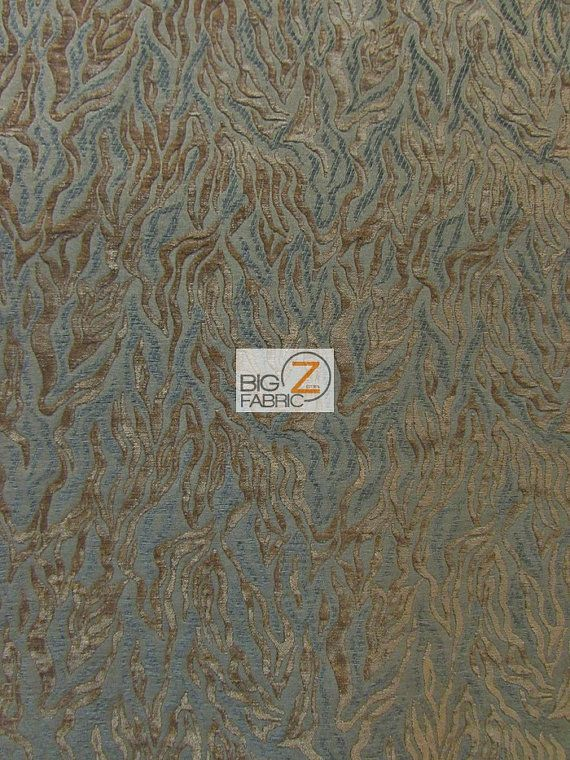 Siberian Tiger Stripes Upholstery Fabric  BRONZE  Sold By