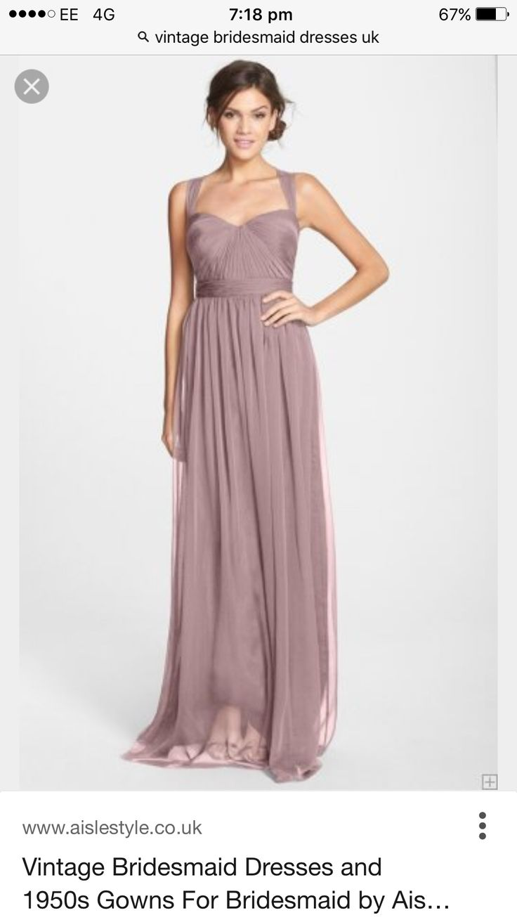 Beautiful mauve bridesmaid dress