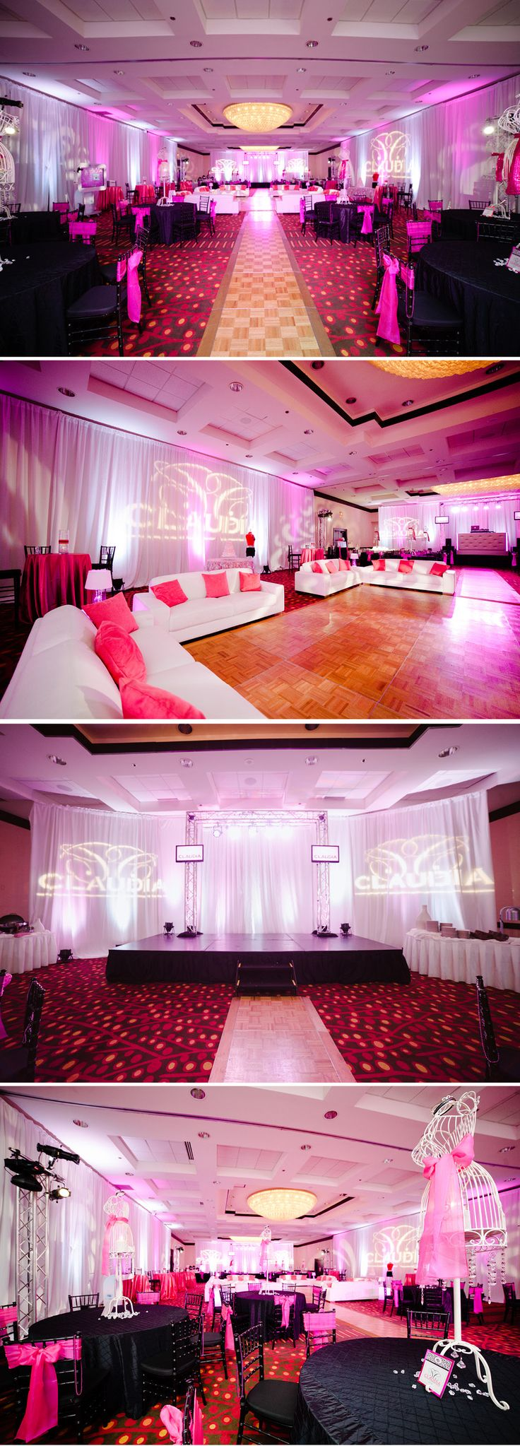 Quinceanera -Birthday Party -high fashion theme decor.