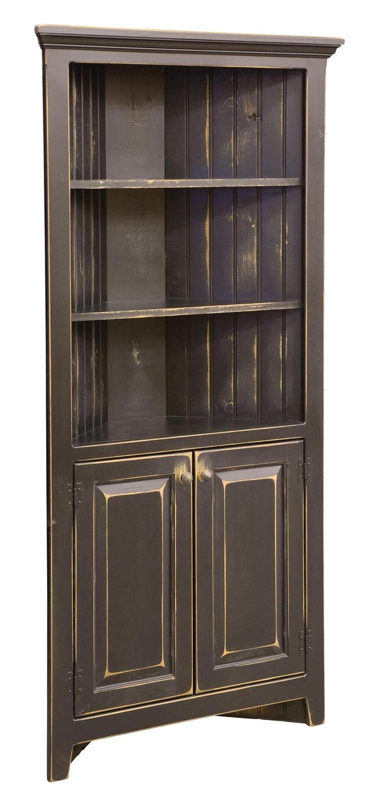 Amish 35 Inch Corner Cabinet · Corner Cabinet KitchenCorner HutchCorner ...