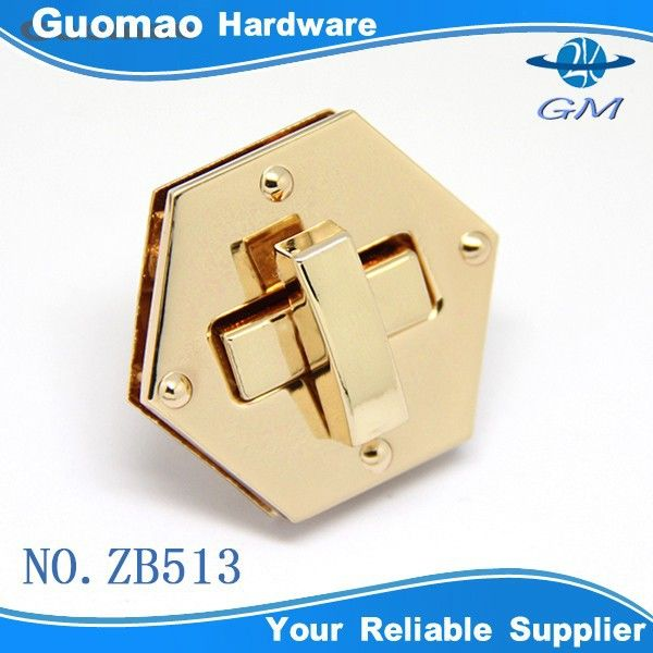 Source Rectangle high quality custom handbag hardware lock on m.alibaba.com