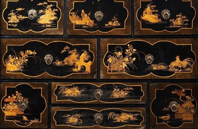 Auction Find: Antique Chinese Lacquer Cabinet 17-18th c. | Interior Design Files
