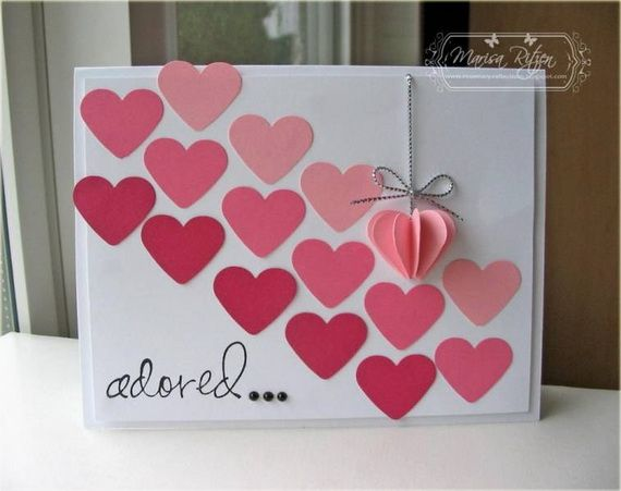 Best 25 Homemade valentine cards ideas – Hand Made Valentine Cards
