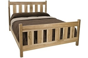 Brownington Platform Bed. Rugged mission style bed available in over a dozen finishes. Made in Vermont.