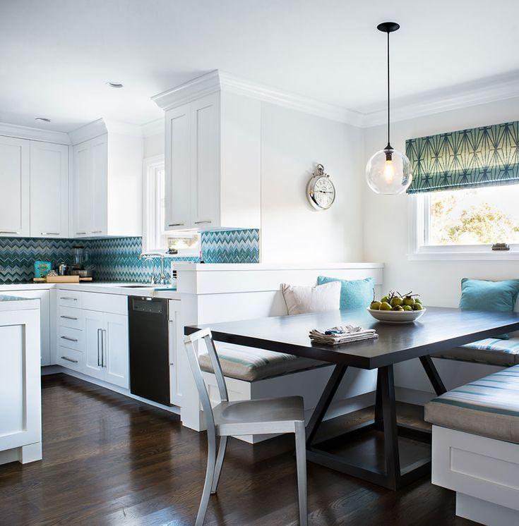 cool kitchen + breakfast nook (Jute Interior Design)