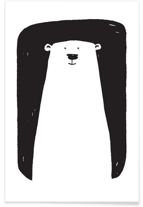 Bear en Affiche premium par Richard Hood | JUNIQE