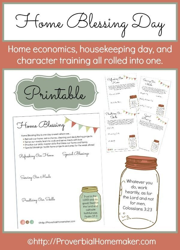 Start a Home Blessing Day every week in your homeschool!