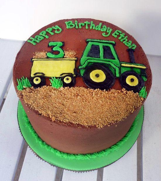 Tractor Birthday Cake Design