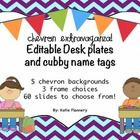 This pdf file includes 60 pages with five chevron choices and three frame choices. Also included are pages with and without lines for students name...