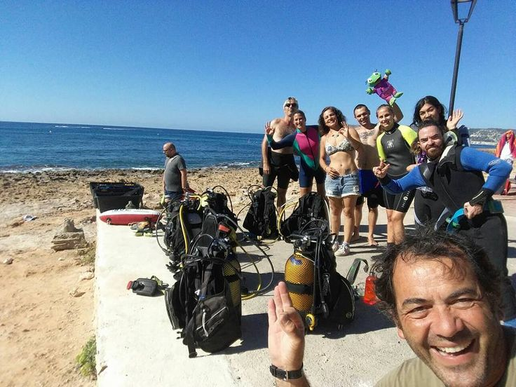 Volunteers getting ready to dive at our Marine Conservation project in Valencia, Spain! :) #travel #volunteer