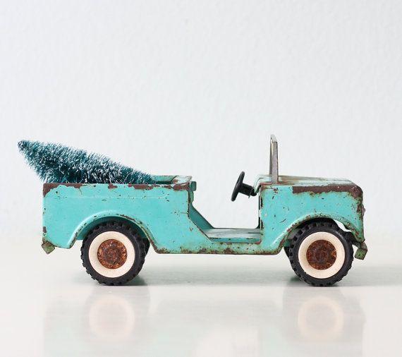 Camion Jeep d'epoca Structo Aqua di bellalulu su Etsy