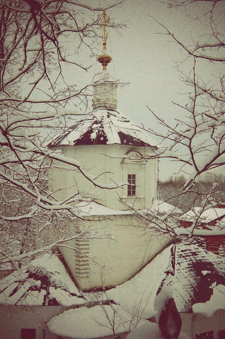 #monastery #church #winter #snow #russia