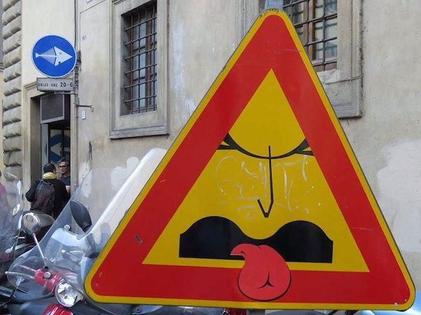 Best Clet Images On Pinterest Urban Art Street Signs And - Brilliant street artist modifies road signs giving them a whole new meaning